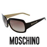 MOSCHINO 時尚復古太陽眼鏡★金屬Logo鉻牌★黑 MO52202