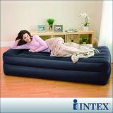 【INTEX】舒適雙層-單人加大充氣床墊(寬99cm)-內建電動幫浦