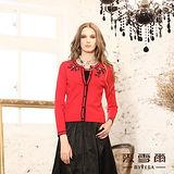 【麥雪爾】華麗璀璨~蝴蝶鑚針織圖樣華麗美感針織上衣-共兩色
