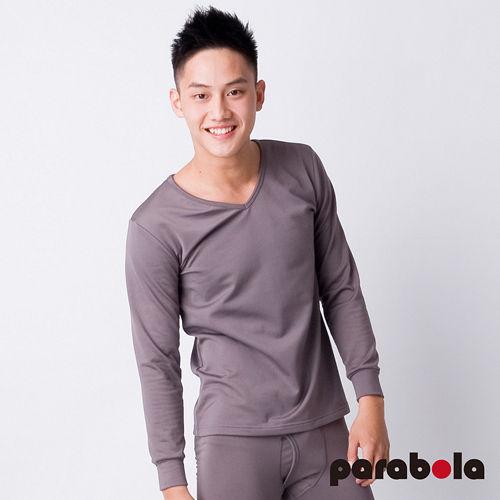 【3M-Parabela】發熱衣-男V領-灰色