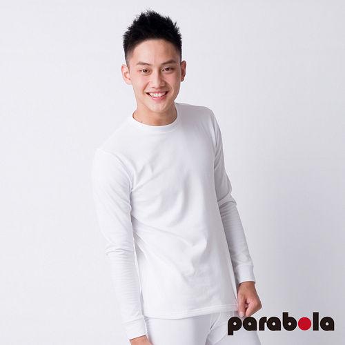 【3M-Parabela】發熱衣-男圓領-白色