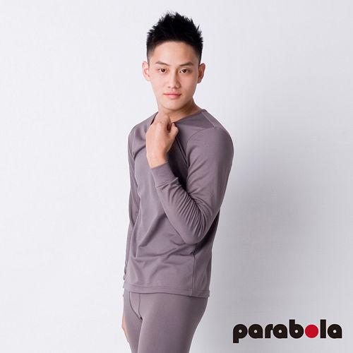 【3M-Parabela】發熱衣-男圓領-灰色