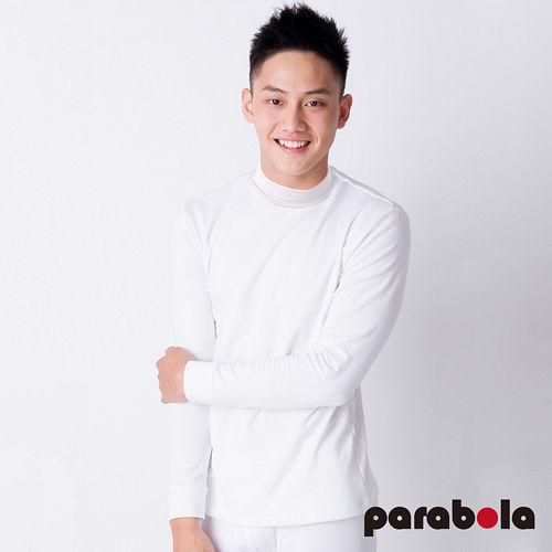 【3M-Parabela】發熱衣-男高領-白色