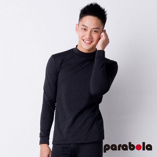 【3M-Parabela】發熱衣-男高領-黑色
