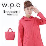 日本狂賣【w.p.c.】日系經典款。時尚雨衣/風衣(R1001)-桃紅