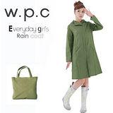 日本狂賣【w.p.c.】日系經典款。時尚雨衣/風衣(R1001)-橄欖綠