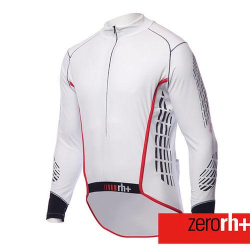 ZERORH 力量肌肉貼花 長袖刷毛自行車衣^(男^)~單車 ~ICU0094