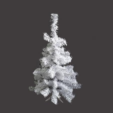 台灣製豪華型2尺/2呎(60cm) 夢幻白色聖誕樹裸樹(不含飾品不含燈)