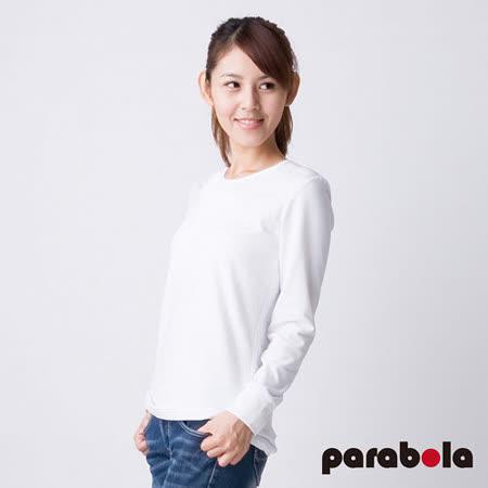 【3M-Parabela】發熱衣-女圓領-白色