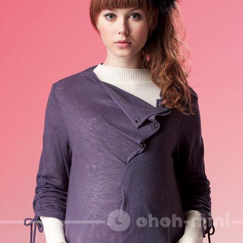 【ohoh-mini】百變女王輕柔針織長版孕婦上衣