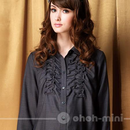 【ohoh-mini】貴族風範格紋花邊孕婦洋裝