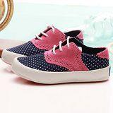【童鞋城堡】Admiral百貨專櫃粉藍色甜美風麂皮帆布鞋{台灣製造}KISD1009-30