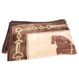 CELINE 首席經典馬車保暖小蓋毯-棕色