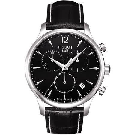 TISSOT TRADITION 復刻計時腕錶-黑 T0636171605700