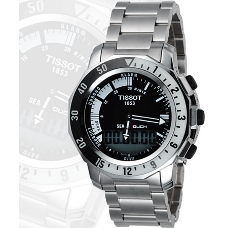 TISSOT SEA-TOUCH 觸控多功能潛水錶-黑 T0264201105100