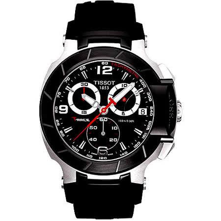 TISSOT T-RACE 急速計時運動錶-勁黑 T0484172705700