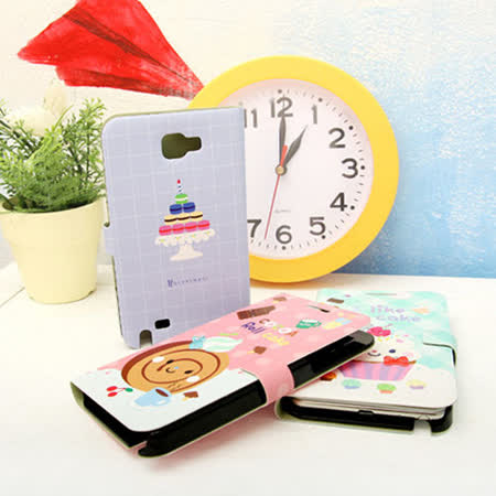 【Happymori】※MAKALON friend's for note※ 側開手機皮套 適用Galaxy Note2 N7100