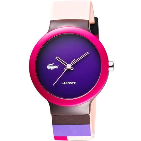 Lacoste 鱷魚 叛逆彩漾運動腕錶-紫藍 L2020039
