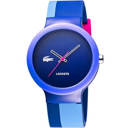 Lacoste 鱷魚 叛逆彩漾運動腕錶-藍 L2020042