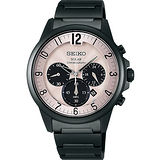 SEIKO SPIRIT 太陽能時尚玩家計時腕錶-卡其 V175-0AY0D