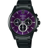 SEIKO SPIRIT SHINOBI忍者太陽能計時腕錶-紫 V175-0AV0SD