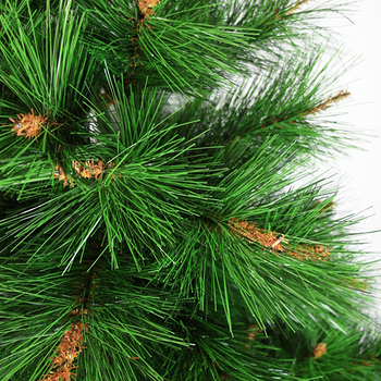 台灣製6尺/6呎(180cm)特級松針葉聖誕樹 (+飾品組)(+100燈樹燈2串)