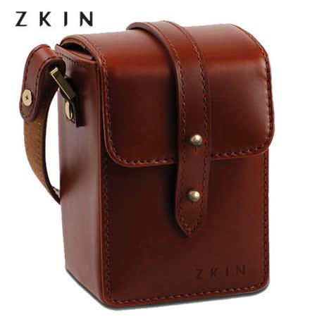 【福利品】ZKIN Rods Z1203輕巧真皮相機袋(朱古力咖啡)