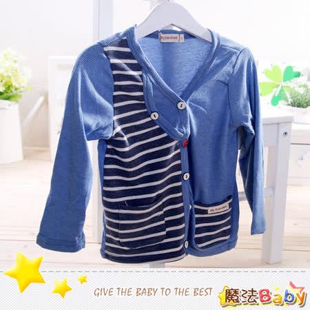 (購物車)魔法Baby~韓版針織開襟外套~小潮男女童裝~時尚設計童裝~k25941