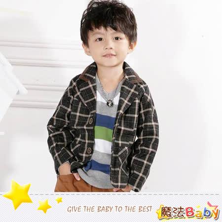 (購物車)魔法Baby~韓版合身短西裝外套~小潮男女童裝~時尚設計童裝~k25958