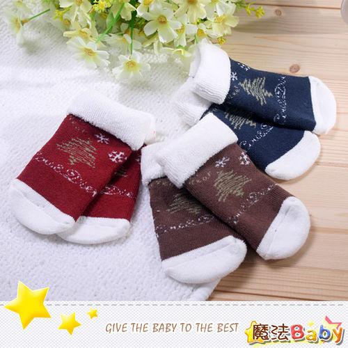 (購物車)魔法Baby~厚款毛料寶寶聖誕襪(紅、藍、咖三款)~嬰幼兒用品~時尚設計~k26221