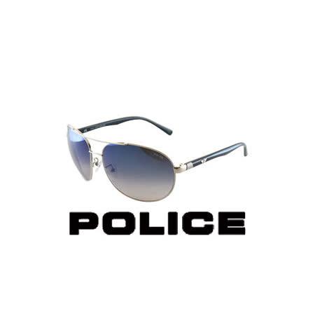 POLICE 時尚飛行員太陽眼鏡★金屬質感框面★ POS8641