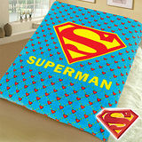 【Superman】超人經典LOGO珊瑚絨毯(藍色)