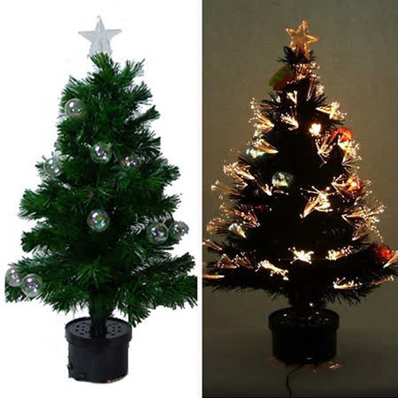 美麗多變浪漫 3尺/3呎(90cm) 光纖聖誕樹