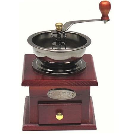 手工木製咖啡豆可調粗細磨豆機研磨機(174056)