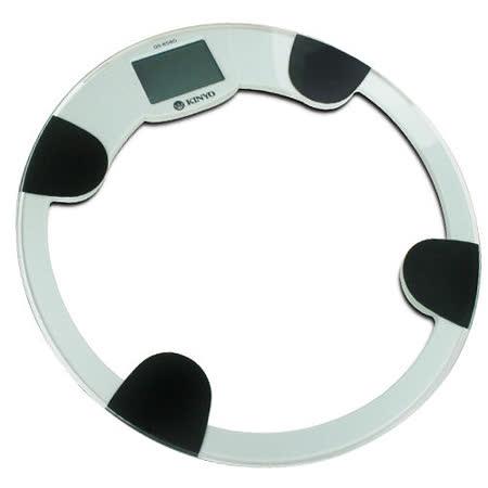 【KINYO】專業耐重水晶圓盤電子體重計 (K-DS-6580)
