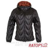 【RATOPS】女 20丹超輕羽絨衣.羽絨外套.保暖外套.雪衣_RAD361 (黑色/酒粕色)
