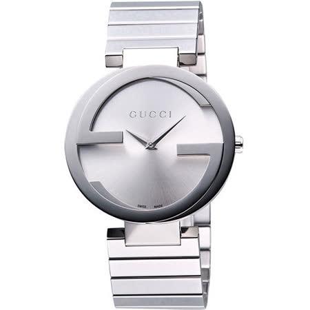 【網購】gohappy快樂購GUCCI Interlocking 時尚元素腕錶-銀 YA133308哪裡買大 逺 百