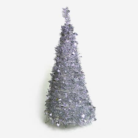 4尺/4呎(120cm) 創意彈簧摺疊聖誕樹 (銀色系)