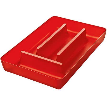 《KOZIOL》Rio 4格餐具收納盒(透紅)