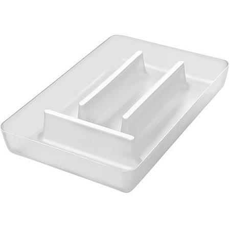 《KOZIOL》Rio 4格餐具收納盒(透白)
