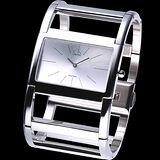 ck Dress 新錶現H型霧面不鏽鋼手環錶