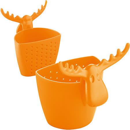 《KOZIOL》麋鹿掛式濾茶器(橘)