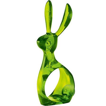 《KOZIOL》長耳兔餐巾環(透綠)