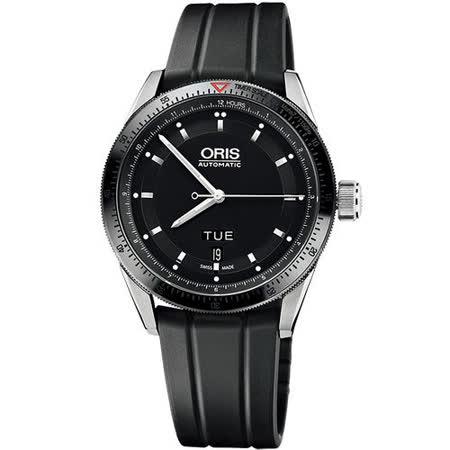 Oris Artix GT 單向轉圈機械腕錶-黑/橡膠 735.7662.44.34RS