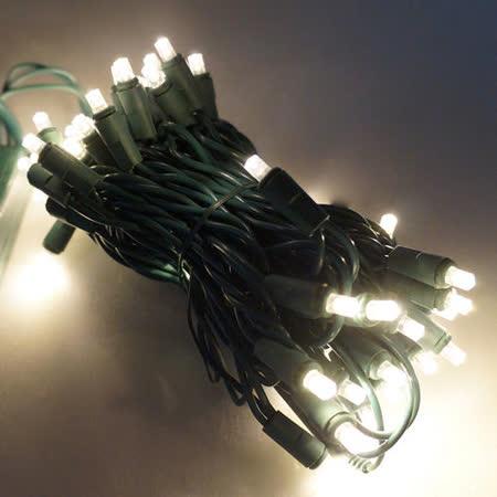 LED燈串聖誕燈-50燈樹燈串 (暖白光)(附控制器跳機)(高亮度又省電)