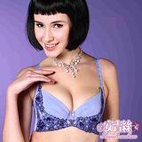 【安吉絲】深V美波下緣雙色蕾絲‧機能提托拉溝內衣組/A-D罩杯(深紫)