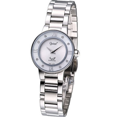 Ogival 愛其華 月光時尚腕錶330-01LS銀色