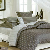 《KOSNEY 爵士品味》加大精梳棉四件式兩用被床包組