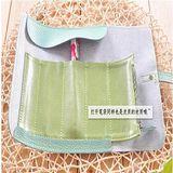 韓國時尚可愛簡約風捲捲皮質筆袋/化妝包 (隨機)
