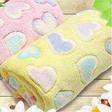 雙面絨童毯雙色愛心/空調毯/嬰兒毯/多功能毯/膝蓋毯 毯子